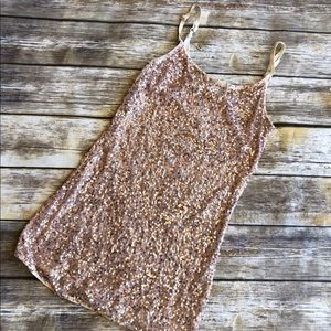 Daytrip Gold Sequin Layering Cami